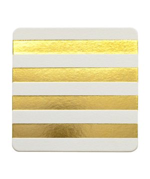 Gold Cabana Stripe Coaster