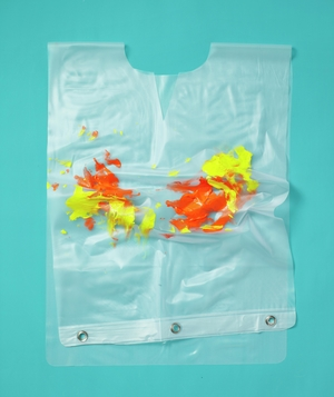 Shower Curtain Liner as Child's Smock