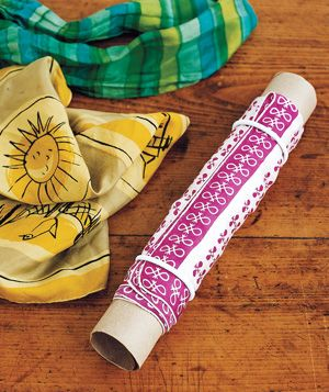Paper towel tube used for scarves