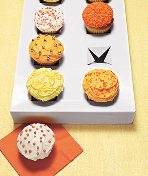 Cupcakes in a shirt box