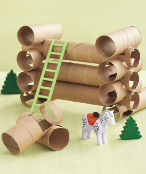 Paper Tubes as Lincoln Logs