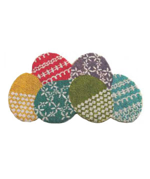 Egg Shaped Coir Doormat