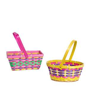 Folding Handle Easter Basket