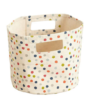 Dancing Dots Canvas Basket