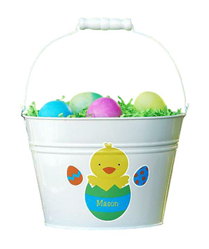 Easter Metal Treat Pail