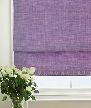 Heavy purple window shade