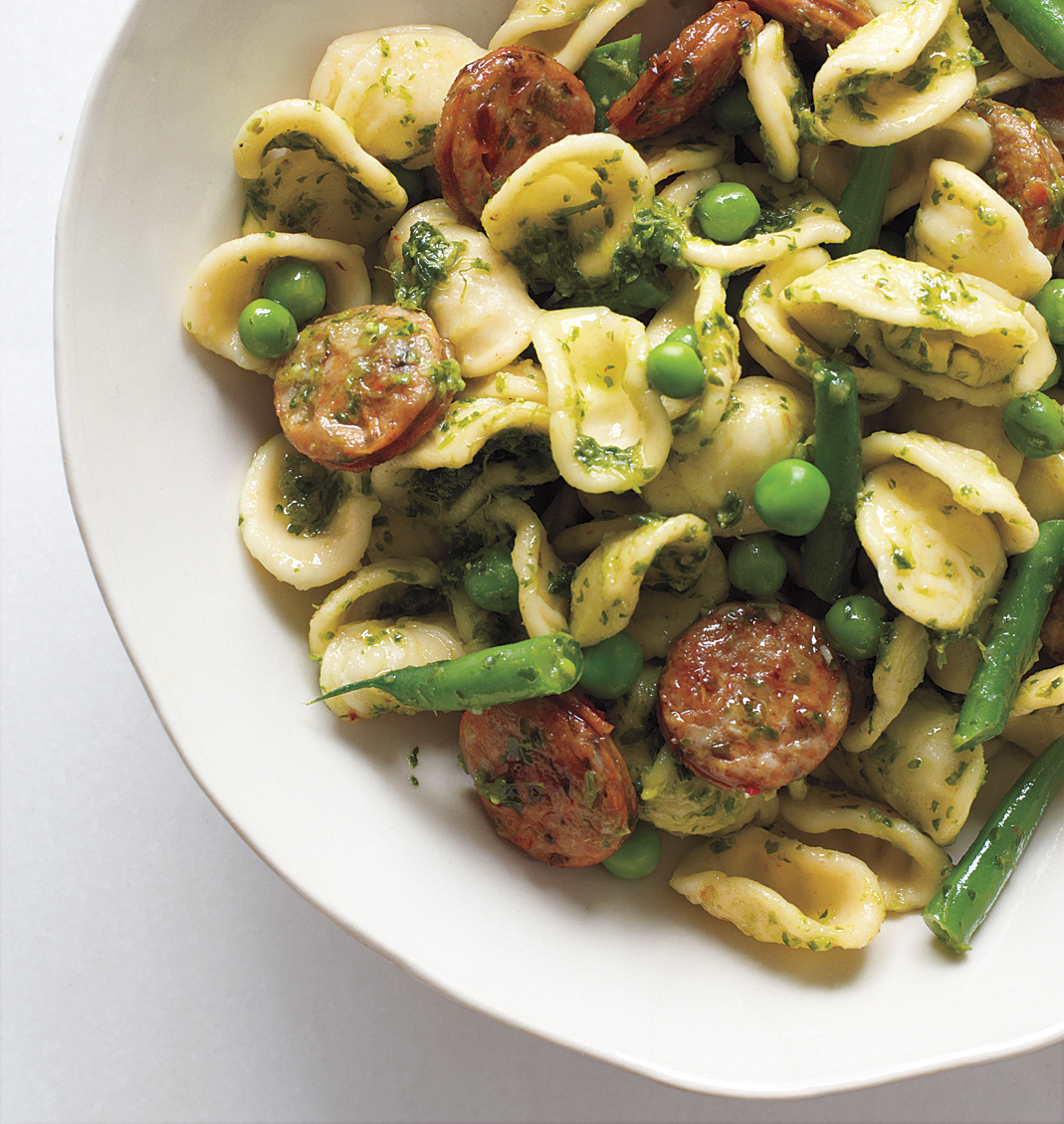 Pesto Orecchiette With Chicken Sausage