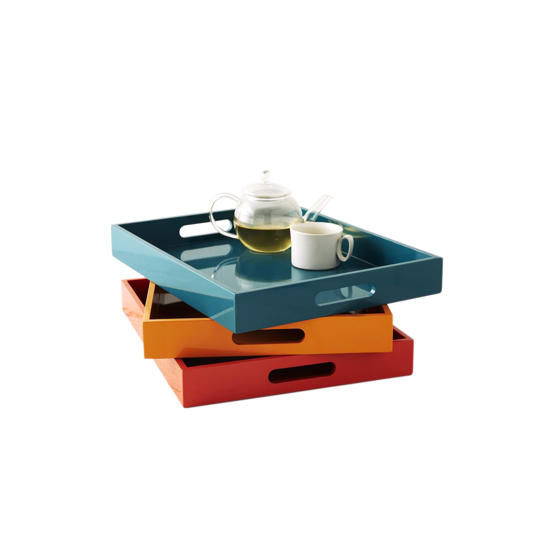 West Elm Lacquer Wood Tray
