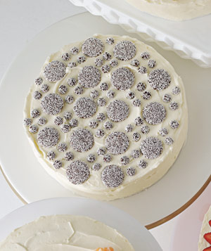Nonpareils on cake