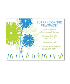 Fireworks graduation card