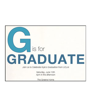 G is for Graduate card