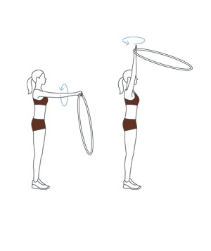 Illustration of the orbit move with a hula hoop