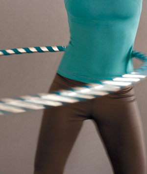 Woman's torso hula-hooping