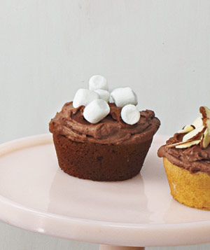Chocolate Cupcake With Chocolate Ganache Frosting and Mini Marshmallows