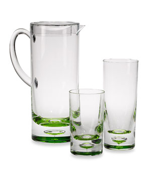 Green Bubble Bottom Pitcher