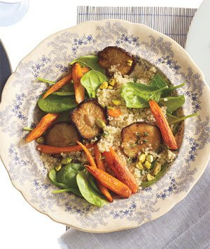 Roasted Vegetable and Quinoa Salad With Pistachiossssss