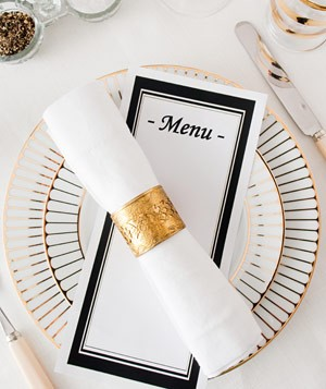 Restaurant place setting