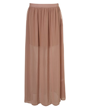 Topshop Clay Floaty Maxi Skirt