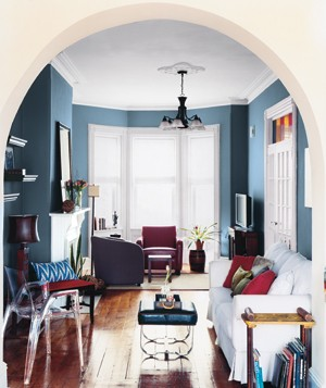 redo living room. Archway and blue room 14 Living Room Dining Makeovers  Real Simple