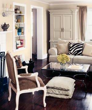 Living Room Decorated With Animal Prints