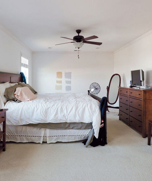 Susan and Joe Nyzio's bedroom before makeover