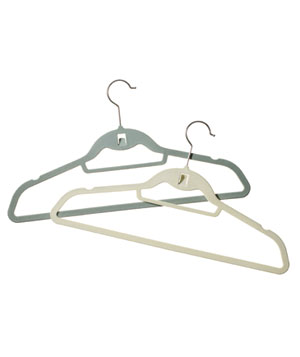 Real Simple Slimline Hangers with Built-in Hooks
