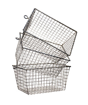Wire gym baskets