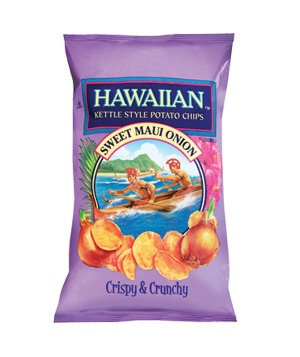 Hawaiian Kettle Style Potato Chips Sweet Maui Onion