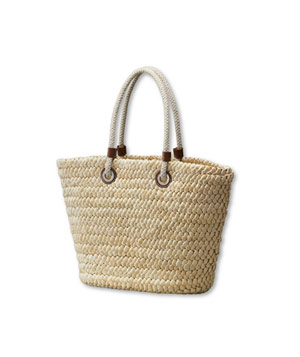 Lands' End Shoreline Straw Tote