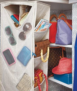 Container Story Eco-Fabric Accessory Bag holding books, purses, wallets and sunglasses
