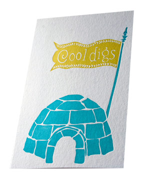 Smock Paper Cool Digs card