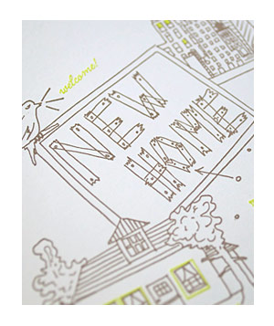 Greenwich Letterpress New Home card