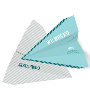 Paper Airplane moving announcement