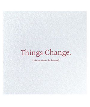 Elum Things Change card