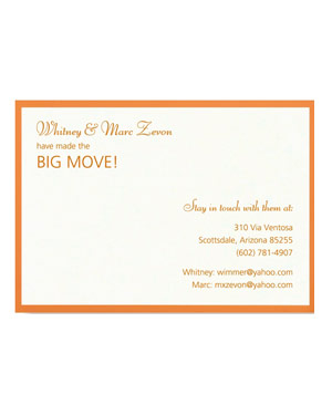 Vera Wang Personalized Moving Cards
