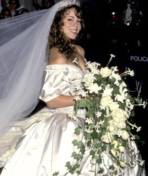 Mariah Carey in a wedding dress