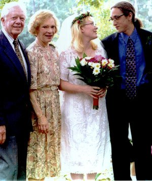 Amy Carter and Jim Wentzel on their wedding day