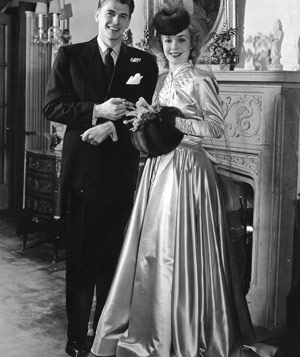 Ronald Reagan and Jane Wyman on their wedding day