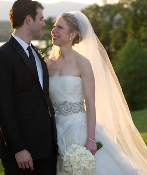 Chelsea Clinton and Marc Mezvinsky on their wedding day