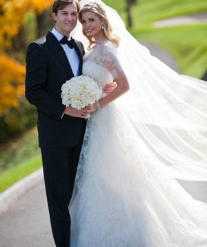 Ivanka Trump And Jared Kushner on their wedding day