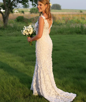 Jenna Bush in a wedding dress
