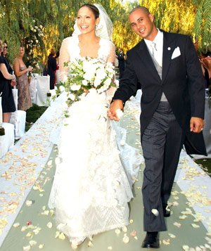 Jennifer Lopez and Cris Judd on their wedding day
