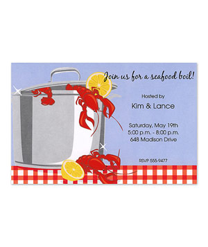 Inviting Company Crawfish Invitation