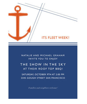 Minted Regatta Party Invitations