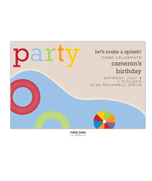 Whitney English Pool Party Invitation