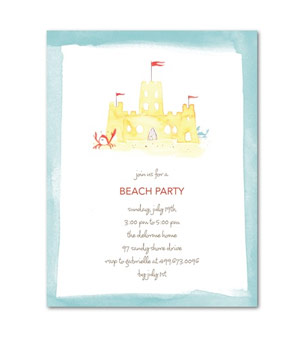 Tiny Prints Summer Sandcastle Invitation