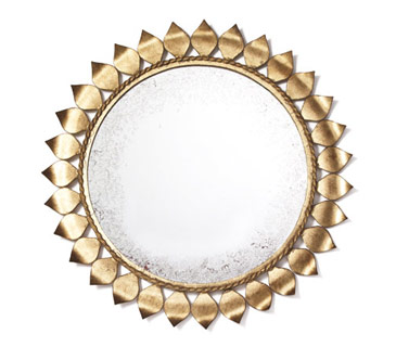 Farrah small iron mirror