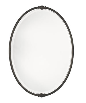 Murray Feiss Boulevard Collection oval mirror