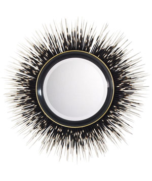 Porcupine Quill mirror by Janice Minor