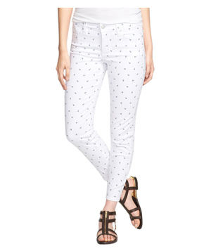 NYDJ Clarissa Print Fitted Stretch Ankle Jeans